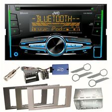 JVC KW-R920BT Autoradio Bluetooth CD USB Einbauset für Ford Kuga Fusion Galaxy