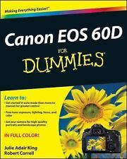 Canon EOS 60D For Dummies, King, Julie Adair, Correll, Robert, Very Good Book