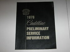 1978 CADILLAC PRELIMINARY SERVICE INFORMATION INCLUDES WIRING DIAGRAM ORIGINAL
