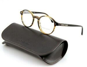 NEW Genuine GIORGIO ARMANI Brown Havana Round Frames EyeGlasses AR 7004 5594