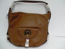 Authentic Micheal kors shoulder bag fulton brown tote NS leather new