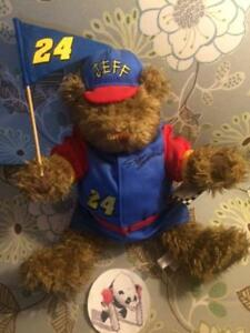 "Jeff Gordon #24 Plush Bear NASCAR Racing Pennant Flag / Hat 1999  NWT 19"""