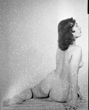 Amateur Nude Female Photo Playful Pose from Behind seated Vintage 1940's