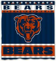 Chicago Bears Waterproof Shower Curtain Bathroom Accessory With 12 Hooks Gift