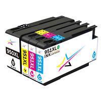 US 4-Pk New Gen 950XL 951XL Ink for HP Officejet Pro 8610 8600 8610 Plus Printer