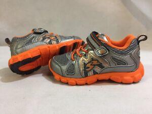 Stride Rite Shoes Athletics Baby Toddlers  Gray/Orange, Size 6, UK 5.5 Eur 22