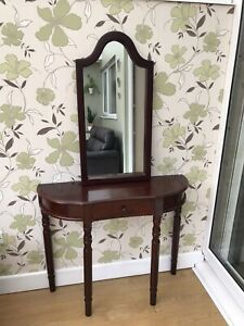 Vintage Style Console/Hall Table And Wall Mirror