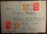 1943 Berlin Germany Cover Domestic Used 10 Years Of Takeover