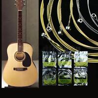 6PCS Acoustic Guitar Steel Strings Gauge Set of Wooden Guitar Accessories - LD