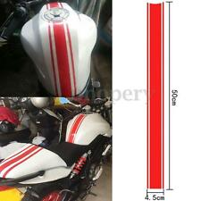 50cm Motorcycle Fuel Tank Fairing Cowl Vinyl stripe Sticker For Cafe Racer Red