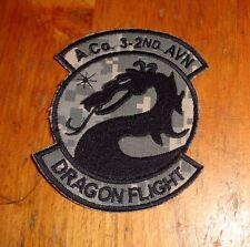U.S.ARMY AVIATION PATCH, A CO.3RD BN 2ND AVN GSAB  DRAGON FLIGHT