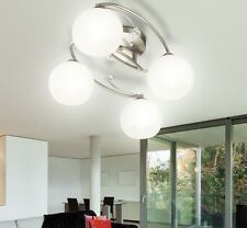 Lustre Plafonniers Salle à manger opale Verre Design Luminaire 4xE27 ROMANTICA
