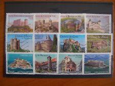 Série complète Chateaux  2012 (YT 714 à 725), 12 timbres