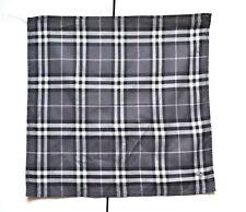 Burberry Pocket Square Mini Scarf Handkerchief Neckerchief Nova Check Grey VGC