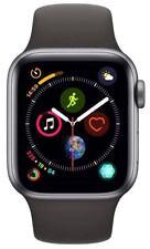 Apple Watch Series 4 Space Gray Aluminium Case with Black Sport Band, MU662LL/A