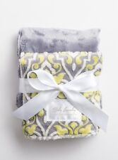 Lime/Gray Posh by Baby Laundry-Minky Burpies-Set of Two