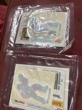 (2) Vintage 1985 He-Man MOTU Fuzzy Iron On  Cereal Premium Kelloggs Roboto
