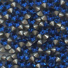1028 SS29 CB *** 12 strass Swarovski 6,2mm FOND CONIQUE POINT BACK CAPRI BLUE F