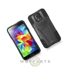 Hybrid Case with Stand for Samsung Galaxy S5 Mini Black Closeout Shell Protector