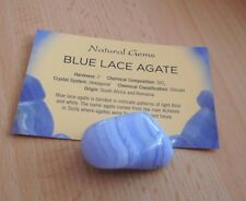 Blue Lace Agate Tumblestone Pocket Crystal 30mm - AA Grade Crystal Large