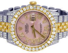 Rolex Datejust 36MM 116233 18K / Acero Dos Tonos Dial Rosa Diamond Reloj 17.75CT