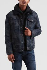 Levi's X Justin Timberlake Black Camo Sherpa Trucker Jacket - M - Fresh Leaves