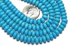 """16"""" Strand SLEEPING BEAUTY TURQUOISE 6mm Rondelle Beads AAA NATURAL COLOR /d23"""