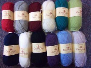 10 x 50g Sirdar Country Style 4ply Wool/Yarn for Knitting/Crochet
