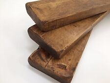3 X 30cm Reclaimed Style CHUNKY FLOATING SHELF WALL DARK OAK  RUSTIC  WOODEN