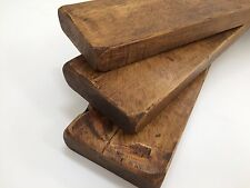 3 X 40cm Reclaimed Style CHUNKY FLOATING SHELF WALL DARK OAK  RUSTIC  WOODEN