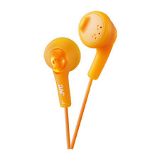 NEW GENUINE JVC GUMY BASS BOOST IN-EAR SOFT RUBBER HEADPHONES EARPHONES ORANGE