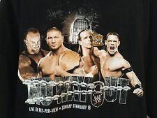 WWE Mens T Shirt Size 3X No Way Out Sunday Febr 18 Wrestling Shawn Michaels b3