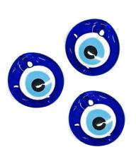5x Nazar Boncuk 4cm Glas Anhänger Türkei Perlen Deko Evil Eye Blau Augen NZ2#5