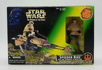 Star Wars Power Of The Force Speeder Bike with Luke Skywalker in Endor Gear NIB