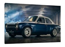 1974 MK1 Ford Escort - 30x20 Inch Canvas Art - Framed Picture Print