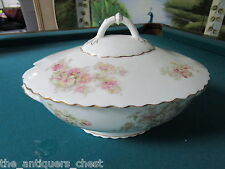 O & E G Royal Austria (Bohemia) soup tureen, flowers bouquet, no laddle[tureen*]