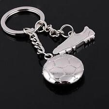 Metall Schlüsselanhänger Schlüsselring 3D Fußball & Sportschuhe Set Geschenk