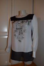 BiBA Shirt Bluse Tunika Longbluse. Pailletten und Strasssteinen. Gr. 42 / L