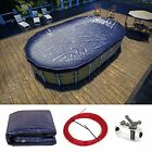 15' x 30' Oval Navy Plus Blue Winter Swimming Pool Cover Tarp Tarpco Safety Extr