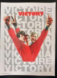 VICTORY, Official Movie Program Souvenir (1981) Good Condtion
