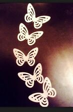 x 28 White Edible Rice Paper/Wafer Butterfly Cake Toppers/decorations Birthday.