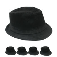 WINTER VELVET Fedora Hat Wedding Dress Formal WOMEN MEN BLACK TRILBY CAP