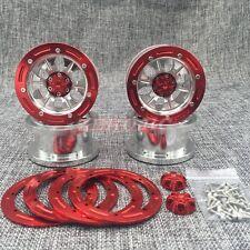 FULL ALUMINUM Beadlock 2.2 Wheel Rim SILVER For Rc Crawler AXIAL WRAITH 4PCS