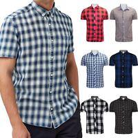 Mens Next Highstreet Check Shirt Casual Check Designer Short Sleeve Work Shirt