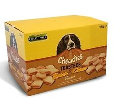 TOASTEES BACON & CHEESE - (10kg) - Chewdles Dog Biscuits Pet Food bp Treat Feed