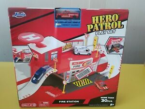 Jada Toys Hero Patrol Fire Station Play Set Includes Die Cast Vehicle
