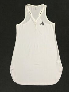 Calvin Klein Women's White XS/Small Sleeveless Racer back Nightdress
