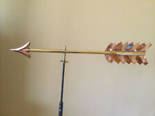 """Good Directions Brass & Polished Copper 1/2 Fletch Arrow for Weathervane 21""""L"""