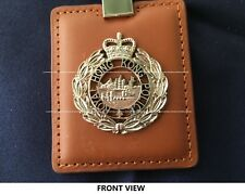 Collectible rare Royal Hong Kong Police Leather key chain w/PTU badge, new