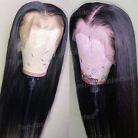 Pre Plucked Straight Silk Top Full Lace Front Wigs Indian Remy Human Hair Wig Ss